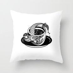 A Cup of Tea. Mermaid Throw Pillow