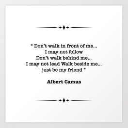 Albert Camus Quote Art Print