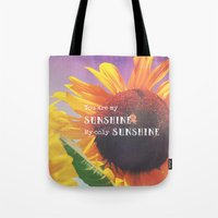 sunshine Tote Bags featuring Sunshine by Olivia Joy StClaire