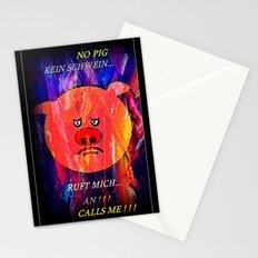 PIG - PHONE . Stationery Cards