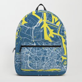Hamburg Map | Germany | Blue | More Colors Backpack