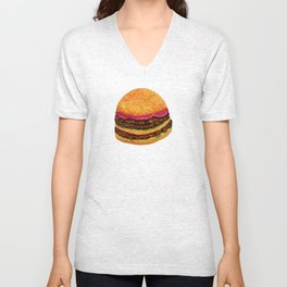 Watercolor hamburger Unisex V-Neck