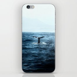 Ocean Teal Whale iPhone Skin