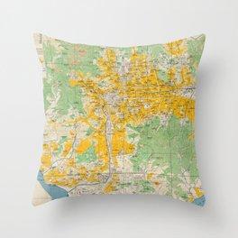 Vintage Map of Seoul South Korea (1946) Throw Pillow