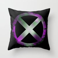 x men Throw Pillows featuring X-Men by Trey Crim