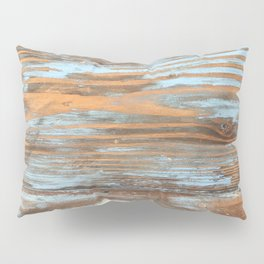 Vintage Wood With Color Splashes Pillow Sham