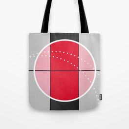 August - black and white graphic Tote Bag