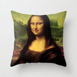 Mona Lisa Painting Throw Pillow