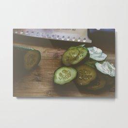 Making pickles Metal Print