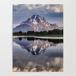 Mt. Moran and the Snake River Poster