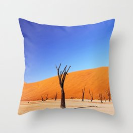 Dead Vlei Namibia Throw Pillow