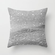 Glitter Silver Throw Pillow