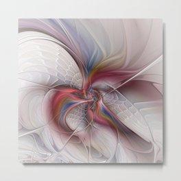 Abstract Dancing, Fractal Art Metal Print