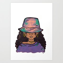 Bucket Hat Art Print