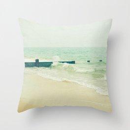 Sea Groyne Throw Pillow