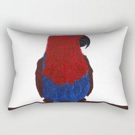 Festive Parrot Rectangular Pillow