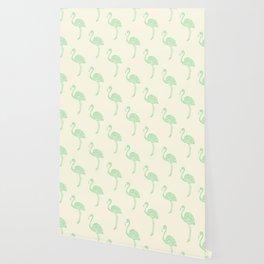 American Flamingo (green) Wallpaper