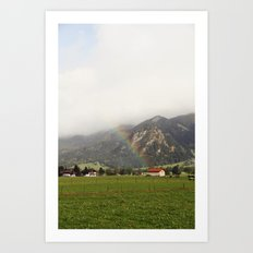 Rainbow in the Valley Art Print