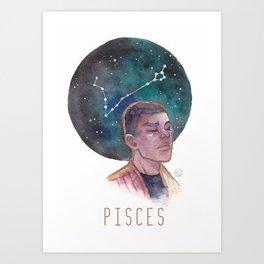 Constellations - Finn - Pisces Art Print