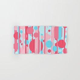 Stripes and circles color mode #1 Hand & Bath Towel