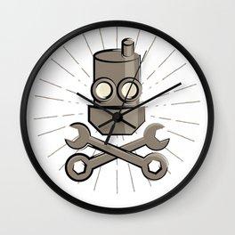 Jolly Robot 02 Wall Clock