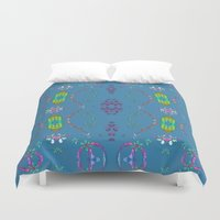 hippie Duvet Covers featuring Hippie Time by Terrell-ESS