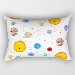 Kawaii Solar System Pattern Rectangular Pillow