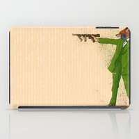 gangster iPad Cases featuring Gangster Fox by Ichorteeth