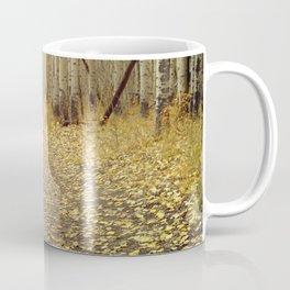 Golden Aspen Mountain Biking Coffee Mug