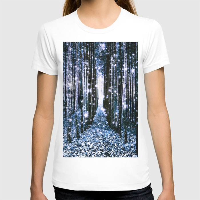 Magical Forest Dark Blue Elegance T-shirt