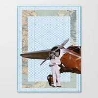 aviation Canvas Prints featuring Aviation by Allegra Jones