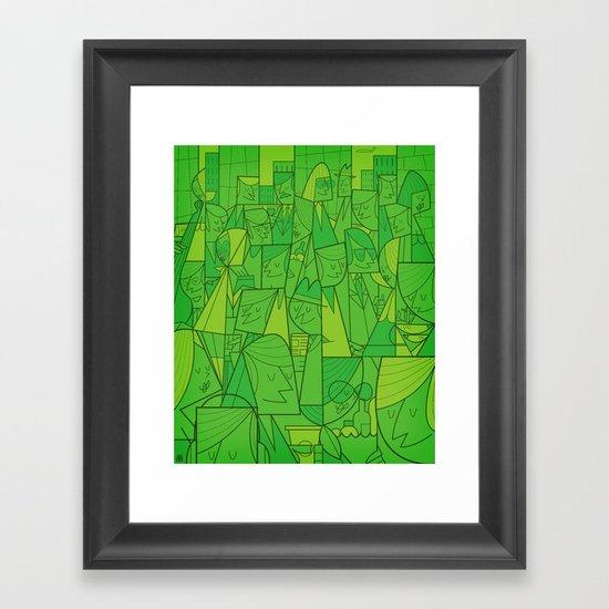 Citystreet (green version) Framed Art Print