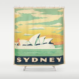 Vintage poster - Sydney Shower Curtain