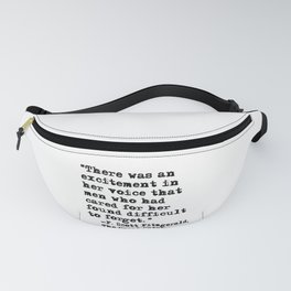 Excitement in her voice ― Fitzgerald quote Fanny Pack