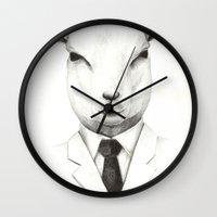 lamb Wall Clocks featuring Lamb by David Cristobal