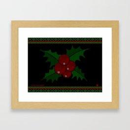Knitted Mistletoe Framed Art Print