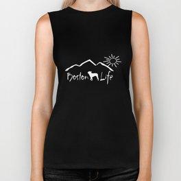 Boston Terrier Life boston terrier gift for pet owner gift for dog lover dog boston terrier decal bu Biker Tank