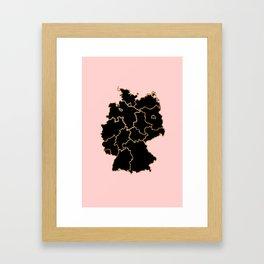 Germany map Framed Art Print