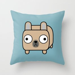 French Bulldog Loaf - Fawn Frenchie Throw Pillow