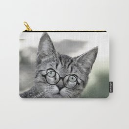 Old Lady Cat with Glasses Carry-All Pouch