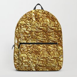 GOLD METAL TEXTURE solid color  Backpack