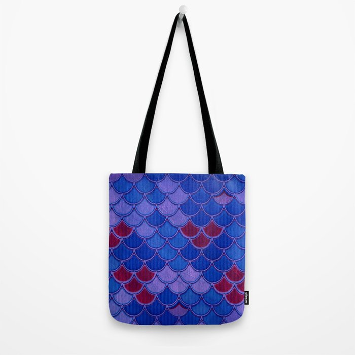 Colorful Dragon Scales Tote Bag