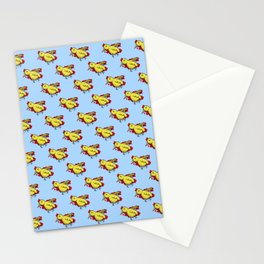 Yellow Dead Bird Stationery Cards