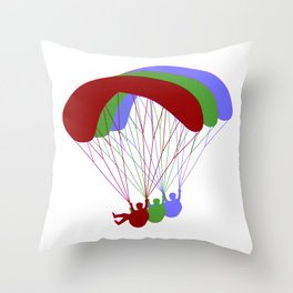 Paragliding RGB Offset Throw Pillow
