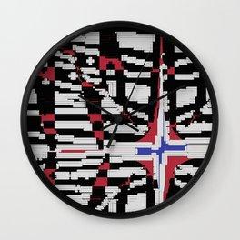 Blue Star New Mexico Wall Clock
