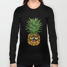 Pineapple Pomeranian Long Sleeve T-shirt