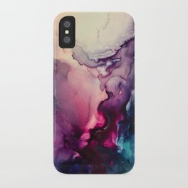 Mission Fusion - Mixed Media Painting iPhone Case