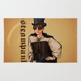 Steampunk Lady Rug