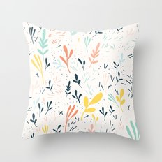 Plants and spikes Throw Pillow