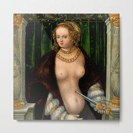 "Lucas Cranach the Elder ""Lucretia"" 8. (1535) Metal Print"